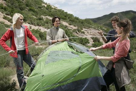 拓展项目:搭帐篷